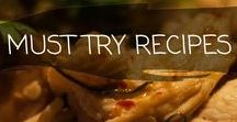 ~ MUST TRY RECIPES ~ / Our favourite recepies of food and drinks we would love to try!