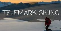 ~ TELEMARK SKIING ~ / Telemark skiing is one of our favourite sports!