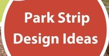 Park Strip Design Ideas / The average lawn park strip in Utah consumes between 8,000- 10,000 gallons of water per summer.   Replacing lawn in the park strip is not as hard as you might think and there's no question that a well-designed, planted park strip can amp up curb appeal while also conserving water.  Ideas shown on this board will all work in Utah.