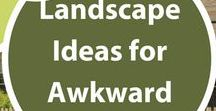 Landscape Ideas for Awkward Spaces / Landscaping awkward spots is a challenge.  These boards show great ideas for narrow planting beds, narrow side yards, irregular lots, and leftover spaces in the landscape you're just not sure how to improve.