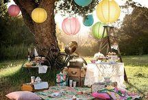 Pic nic / Festinha infantil com tema de picnic. Idéias de decoração, lembrancinha e comidinhas.  #picnic #piquenique