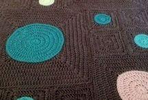 Hæklede tæpper / Inspiration til hæklede tæpper