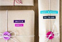 Gaveindpakning / Idéer til gaveindpakning
