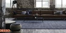 Desso Denim tapijt / Dit is dé ultieme manier om de denim look in huis te halen, want deze nieuwe tapijtcollectie bestaat uit maar liefst zeven verschillende denim kleuren en structuren. Deze zachte vloerbedekking leg je kamerbreed of je maakt er een stoer kleed van. Zoals je in deze slaapkamer kunt zien, heeft het tapijt een versleten look. Net als je favoriete jeans. Stoer, modisch en ijzersterk!