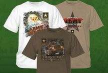 Military Pride Apparel / Help your customers show their support. Personalize T-shirts, sweatshirts banners, hats, you name it you can create it! It's simple with heat transfer materials (aka heat transfer vinyl & htv), royalty free artwork, stock screen printed (plastisol) transfers or full color digital transfers. All you need is a heat press.