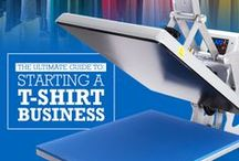 T-shirt Business Tips / Tips for starting and/or growing your T-shirt business. Whether you are using a heat press with heat transfer vinyl, dtg, sublimation, embroidery, screen printing or other custom apparel in your business, you'll find tips here.
