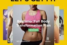 Let's Get Fit  / Printable illustrated at-home and gym workout plans for weight loss, muscle building, toning, strength and more. We have visual PDF workouts for abs, love handles, toned butt and legs, routines for beginners, for women, for men, for teens and much more – enjoy! Browse more at http://WorkoutLabs.com/Fit