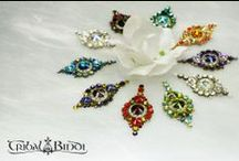 belly dance bindi  / hand made crystal bindis for bellydancers
