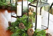 Natural Christmas / Decorating with greens, browns, and soft whites makes for a natural and elegant Christmas.  This color combination is a great choice for decorating with winter animals such as birds and deer.