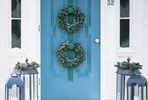 Blue Christmas / Choose a blue hued tree, such as a blue spruce or concolor fir.  Then decorate with blue, silver, and white ornaments and ribbons.