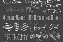 Fonts and Typography / by Marie-Michèle Plante