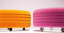 Recyclage de pneus / Détournement de pneus :) Toutes les idées pour donner une 2ème vie à vos pneus ! Recyclez vos pneus : Déco, meubles, jeux pour enfant ... #Recyclage #pneus