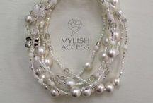 "mylish accessories ""multiplex bracelet"" / 天然石を使った多重のブレスレット"
