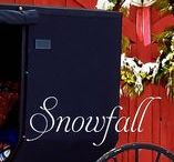 """SNOWFALL / New York Times bestselling author Shelley Shepard Gray spins a beautiful holiday tale of finding love in unexpected places.  SNOWFALL is """"MARY POPPINS meets THE SOUND OF MUSIC.""""  The pins on this board will allow readers to take a peek inside the frosty windows of the Rhodes' home."""