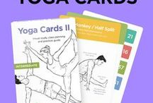 Yoga Sequences to Try  / YOGA CARDS by WorkoutLabs (available at WorkoutLabs.shop) is a visual practice guide with essential poses, breathing exercises and meditation for kids, adults, beginners and intermediate students. Learn how to do yoga's most important positions and their benefits with our illustrated cards!