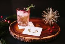 Winter 2015 (The Roc Shop) / Holiday drink stirrers, coaster, napkins, cards, tags