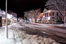 Winter Wonderland / There's nothing like a quintessential summer destination covered in a cool blanket of snow. What beats a Cape Cod holiday by the sea?