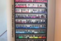 Nail Polish Storage / Beauty storage for Nail polish. DIY.
