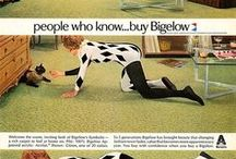 Vintage Bigelow Carpet ads! / We love these vintage ads!