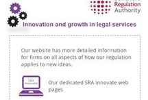 SRA Innovate / We are committed to helping current providers of legal services develop their businesses in new ways and to supporting new types of organisations who are thinking of delivering legal services for the first time.