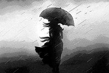 Weird/Whimsical Art, umbrellas / by Lorissa Wisteria S.