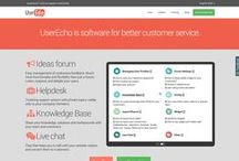 Evolution of UserEcho frontpage design / How it looks from beginning to the current moment