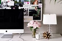Home Office Style / Inspiration on creating the most stylish and glam home office!