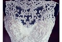 Embroidery Beading Wedding Dress / Beautiful beaded wedding dress from illusionbridals.com with awesome details.