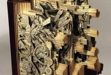 Book Art Sculpture / Books that have been carved into something else.