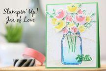 Stampin up Jars & Botanicals