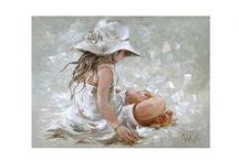 barn/mennesker / Malerier
