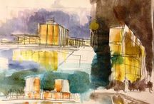 Architecture Sketch Watercolor / Sketch Architecture watercolor