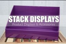 Stack Displays / Stack Displays - Cardboard Counter Product Displays & Accessories. Use at craft shows, vendor events, farmers markets or as a retail display. Product Display Ideas for Direct Sales Consultants. www.StackDisplays.com