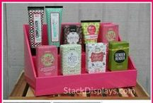 Stack Displays with Products / These are pictures of Stack Displays with different products  so that you can see how YOUR product will fit on our displays! We are NOT in any way affiliated with these companies or product lines! Examples show products from It Works Global, Perfectly Posh, Pink Zebra Home, Scentsy, Younique, Pure Romance, Tastefully Simple, Tyra Beauty, Jamberry Nails, many homemade DIY product lines and more!
