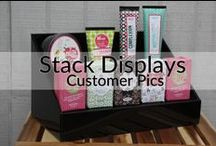 Stack Displays Customer Pics / Check out pics that our customers have sent in using their Stack Displays! Get ideas for using your displays, along with other ways to set up your product displays at vendor events, home parties, craft shows and more!