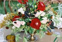 Metallic Red Fall Wedding / Inspired by our metallic red palette for a fall wedding / by Wedding Colors