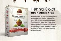 Henna Hair Color / Henna hair color. Henna hair care. How to use henna. Benefits of henna on hair. Henna infographic.