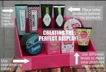 Perfectly Posh Display Ideas / Ideas on how to display your Perfectly Posh products!