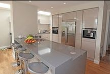Kitchen Worktops / Kitchen worktops are durable, easy to maintain and available in a wide range of colour options to suit every taste. Here we show a selection of quartz kitchen worktops installed by LWK Kitchens