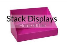 Stack Displays Home Office / Product displays & accessories, brochure holders, business card holders and more for craft shows, craft fairs, farmers markets, vendor events, vendor shows, expos, retail locations and more. #small business #craft business #direct sales