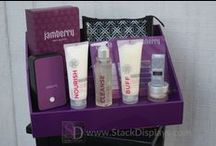 Jamberry Vendor Display Ideas / Display your Jamberry Nails products using a coordinating purple display at vendor events and home parties.