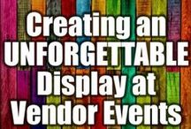 Craft Fair Display Ideas / Display ideas and tips for craft shows, craft fairs, vendor events, trade shows and farmers markets.