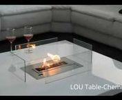 Table Cheminée / Table cheminée ethanol avec insert automatique télécommandé. http://www.a-fireplace.com/fr/table-cheminee-ethanol/