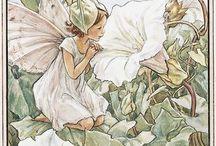 Watt ne Kitsch / Illustration von Feen und Blumen