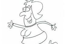 Chistes para niños para imprimir y colorear / Para ver que chiste pertenece a cada dibujo visita http://entredatilesyalbaricoques.blogspot.com.es/search/label/Chistes