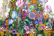 Garden Zentangle doodle