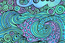 Seascape Zentangle Doodle