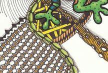 Animals Zentangle Doodle