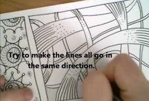 Video zentangle doodle