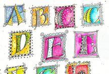 Lettering Zentangle Doodle